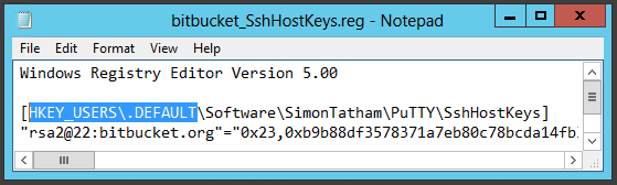 Notepad - Change HKEY_CURRENT_USER to HKEY_USERS\.DEFAULT